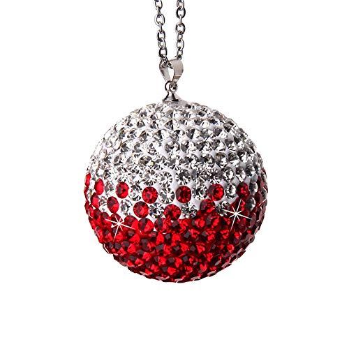 Adornos de bola de cristal para espejo retrovisor de coche, colgante de bola de diamante de cristal, accesorios de suspensión para espejo retrovisor, colgante de bola de cristal de color degradado