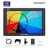 Feelworld FW703 Monitor de Campo SDI 7 Pulgadas, DSLR Monitor Cámara Réflex LCD Camera Field Monitor, con Función 3G-SDI Full HD 4K HDMI, F550 Batería Incluída