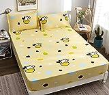 Gelbe Kuh Muster Einteilige Baumwolle Kinder Cartoon Rutschfeste Bett Trampolin Abdeckung Baumwolle...