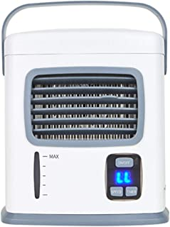 Deajing Aire Acondicionado Portatil Pequeño Enfriador Recargable Mini Ventilador de Aire Acondicionado USB Silencioso Portátil Refrigerador de Aire de Escritorio Pequeño