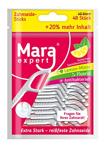 Mara Expert Palillos de seda dental de, limpieza interdental y de lenguas,...