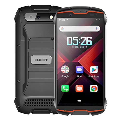 CUBOT Kingkong Mini 2 Móvil Resistente al Golpes, Smartphone 4G con 4 Pulgadas Pantalla, Android 10, 3GB RAM+32GB ROM(SD 128Gb Ampliable), Cámara 13MP+8MP, Dual SIM, Face ID, GPS, Rojo