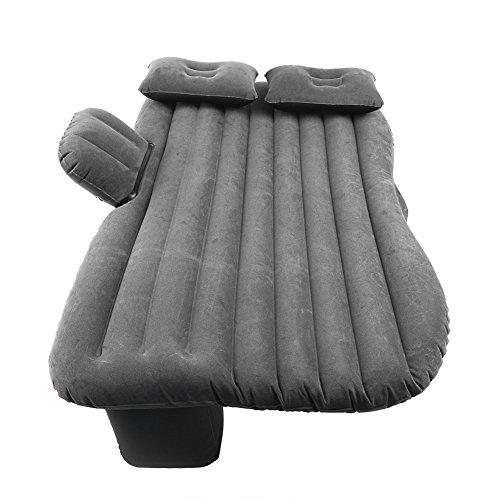 Cocoarm Auto Aufblasbare Luftmatratze Auto Rücksitz Luftbett Reise Aufblasbar Bett graue Beflockung Dickere Matratze Universal Auto Luftmatratze für Reisen Camping Outdoor Aktivitäten