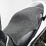 Motorrad-Sitzbezug, Wärmeisolierung, Sonnenschutzkissen, rutschfest, atmungsaktiv, 3D-Netz, Sitzschutz, Matte (XL)