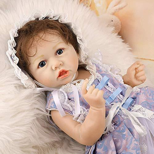 Lifelike Realistic Saskia Reborn Baby Dolls,22 Inch Baby Doll Reborn Silicone Vinyl Full Body Princess Lifelike Dolls Kids Birthday Xmas Gift,58CM LATT LIV