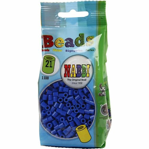 Nabbi® - Bügelperlen 1.100 Stk. ~Ø 5 x H 5 mm dunkelblau Nr.21