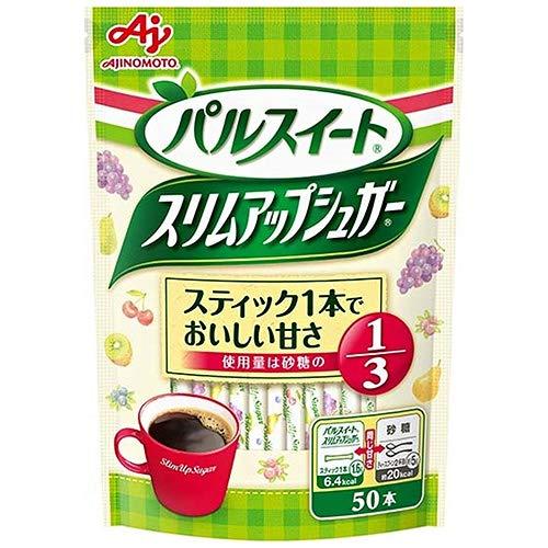 味の素 パルスイート スリムアップシュガー スティック 80g(1.6g×50本)×10袋入×(2ケース)
