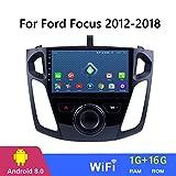 Dr.Lefran 9 Pulgadas Android 8.1 2.5D del Coche DVD GPS para Ford Focus 2012-2018 Radio de Coche estéreo de la Unidad Principal de navegación,WiFi 1g+16g