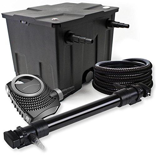 SunSun Kit de Filtration de Bassin 12000l 72W UVC 6. Stérilisateur NEO10000 80W Pompe Tuyau