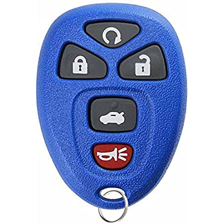 KeylessOption Keyless Entry Remote Control Car Key Fob Replacement for 15912860 -Blue