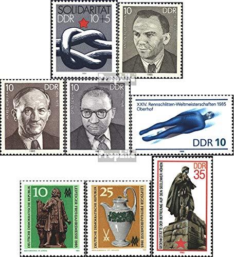 Prophila Collection DDR 2909,2920-2923,2929-2930, 2939 (kompl.Ausg.) 1984/85 Solidarität, Schlitten, Messe u. (Briefmarken für Sammler) Wintersport