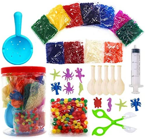 Non Toxic Water Beads Kits for Kids Assorted Colors Small 11000 Water Beads 150 Jumbo Large product image