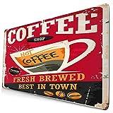 Nettes Mauspad ,Kaffee Retro Zinn Zeichen auf Red Cafe Bar Interie,Rechteckiges rutschfestes Gummi-Mauspad für den Desktop, Gamer-Schreibtischmatte, 15,8 'x 29,5'