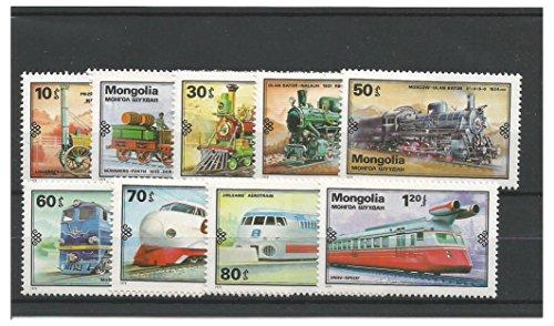 Briefmarken für Sammler - 1979 Entwicklung der Eisenbahnen Züge Lokomotiven Postfrisch stempel-satz / Mongolei SG1215 - 1223