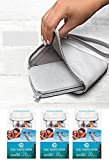 Crystal HP Original Sprocket Wallet Case - Portable Photo Printer Protective Soft Case with Side Pocket and Wrist Strap - Gray + 60 Prints