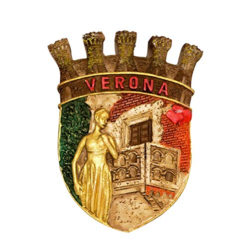 zamonji Estatua de Julieta, Verona Italia 3D Imán de Nevera Imanes para Refrigerador Viaje Souvenir Turísticos Recuerdos
