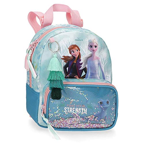Disney Zaino asilo Frozen Find Your Strenght, Blu, 19x23x8 cms
