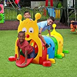 LNATOVI Children's Game Tunnel, Indoor and Outdoor Tunnels for Kids to Crawl Through, Kids Fun Play Structure Toddler Playground Caterpillar Day Care (Multicolour, US Direct)