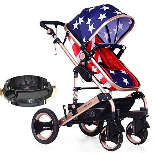 MAMINGBO Cochecito de bebé Buggy Niño Cochecitos de niños plegables Sistema de viaje Cochecito de bebé infantil plegable for recién nacidos y niños pequeños (Color : G)