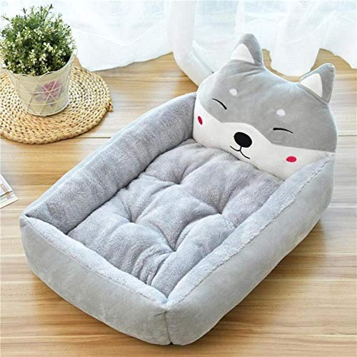 Pet Bed Cartoon Pet Bed Soft Kennel Winter Warm Pet Supplies House For Cat Mat Bed For Small Medium Large Dog Thicken Lounger Sofa,2,L