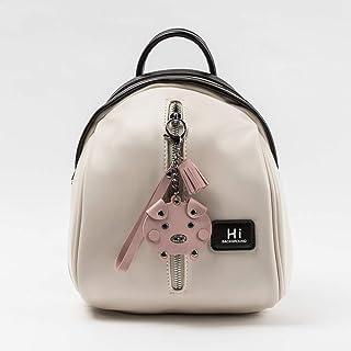 YXLZZO Shoulder Bag Leather Zipper Shoulder Bag with Color College Wind Bag. (Color : White)