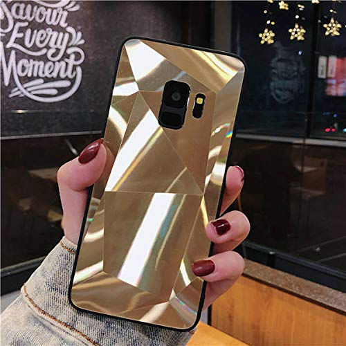 TGHUK Coque Samsung,Or 3D Diamond Glitter Mirror Phone Case Silicone Soft Candy Back Cover for Samsung Galaxy Note 8 9 S7 S8 S9, for Galaxy S9 Plus