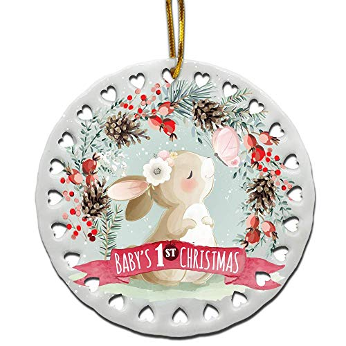 Bella Bust-Baby's First Christmas Ornament-Baby Girl-Boy 1st Christmas Decoration Ornament (Girl)