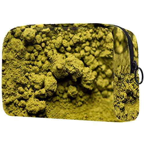 Kosmetiktasche für Make-up-Pinsel, tragbar, für Damen, Handtasche/Kosmetiktasche, Reise-Organizer, grüner Tee, Matcha-Pulver