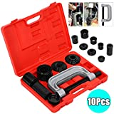 4 in 1 Ball Joint Service Kit, Auto Press U Joint Removal Tool, 4WD Vehicle Brake Anchor Pin Remover Installer 9 Piece Set for Most Cars