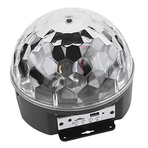 Topiky Disco Ball Party verlichting speaker 9 kleuren KTV dans RGB LED podiumlicht draadloze Bluetooth luidspreker ondersteuning TF kaart & U Disk geschikt voor verjaardagscadeau thuis Pub, EU.
