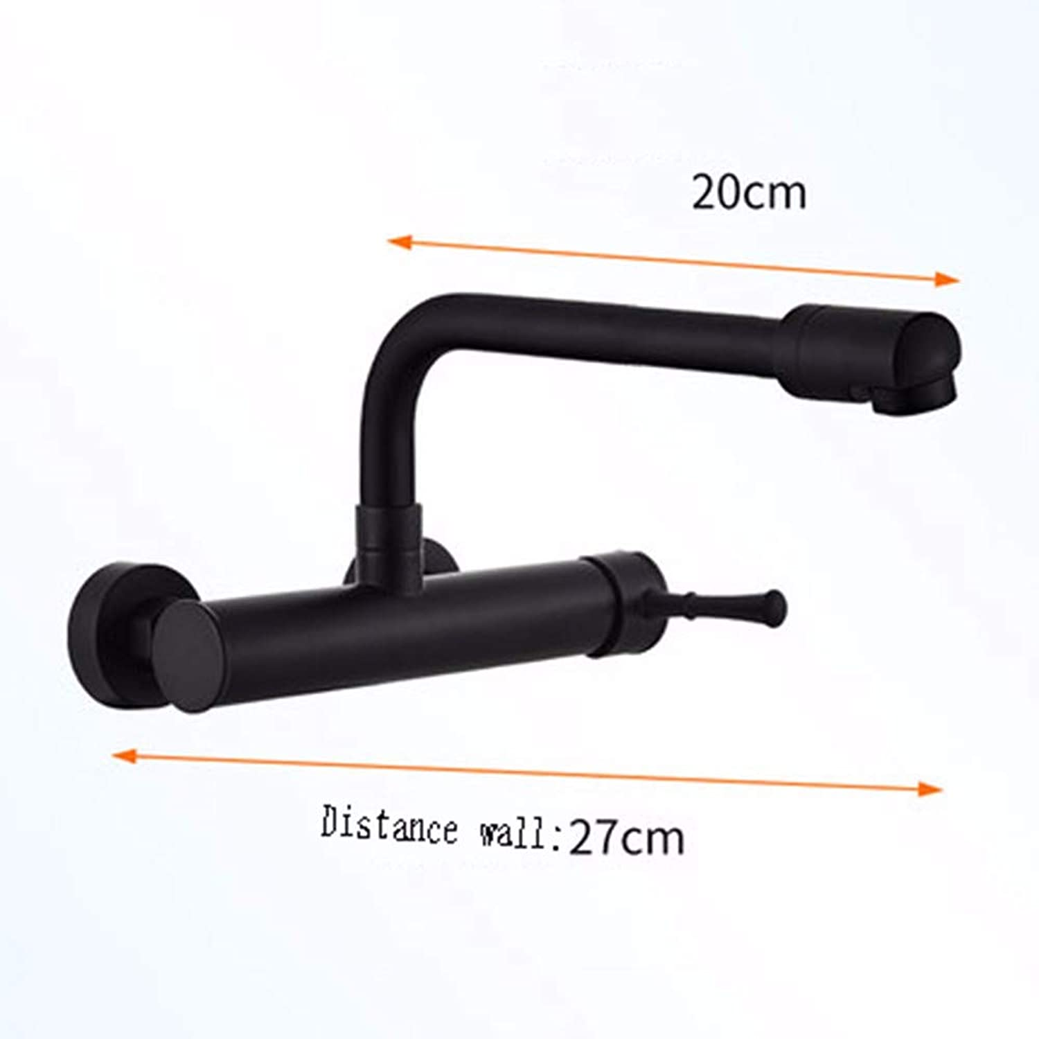 Black Wall-Mounted Faucet Cold and hot Universal redary Kitchen Sink Vegetable wash Basin Faucet Have More Cash Than can be accounted for