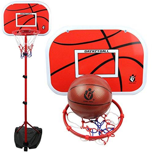 Canasta de baloncesto para niños, con soporte, altura regulable, para interior y exterior, 105 – 200 cm