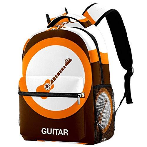 Laptop-Rucksack mit Gitarren-Icon-Motiv, leger, langlebiger Rucksack für Männer und Frauen, für Arbeit, Büro, Studenten, Geschäftsreisen, Schultasche, Büchertasche