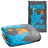 Sesame Street More Cookies Officially Licensed Silky Touch Super Soft Throw Blanket 36' x 58'