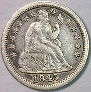 1845 seated liberty dime