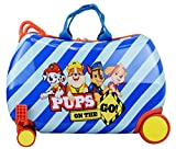 Nickelodeon Paw Patrol Boys - Girls Carry On Luggage 20' Kids Ride-On Trunky Suitcase (BLUE)