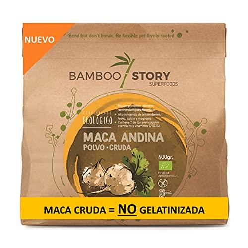 NUEVO - Maca Andina/Peruana/polvo/powder cruda ecológica BAMBOO STORY 400g