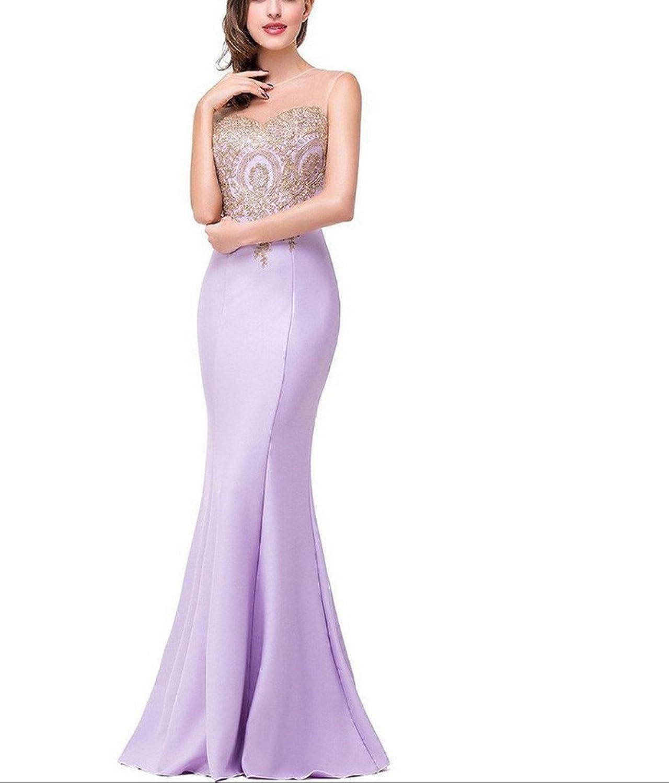 Jojo's Women's Mermaid Silm Floor Length Sleeveless Brides Evening Gowns