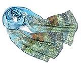 prettystern Donna Sciarpa di Seta Reproduzione Opera D'arte Print 160cm Dipinto Van Gogh P...