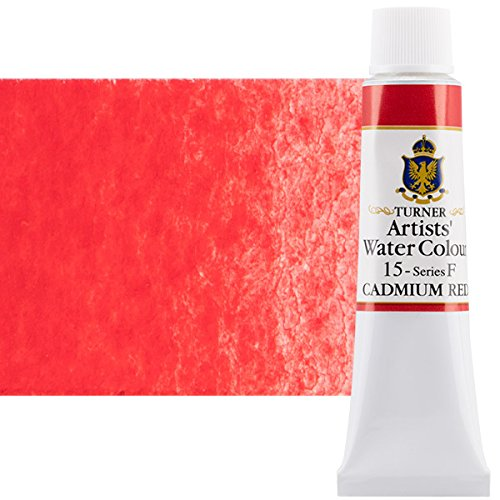 Turner Concentrated Professional Artists' Watercolor Paint 15ml Tube - Cadmium Red