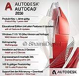 Autodesk AutoCAD 2020 | Digitale Software lizenz / 1 Jahr | Fenster | Express-Lieferung 24h | Enthält Anweisungen zum Software-Download