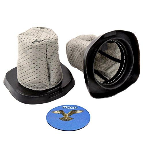 HQRP 2-Pack Dust Cup Filter Works with Dirt Devil F25 F-25 2SV1102000 3SV0980000 Replacement Dirt Devil SD20000 Simpli-Stik / 083405 M083405 Versa Power Series Stick Vac Vacuum Cleaner + Coaster