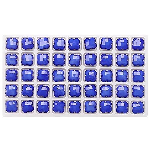 BOSAIYA BL 30 unids 12 mm Forma de trébol de Cuatro Hojas Granos de pétalos de Vidrio para Bricolaje Haciendo el Collar de Cristal Collar Accesorios Colgantes artesanía TL726 (Color : 7)