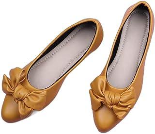Walktrendy Women's Ballet Flat (wtwb2_Yellow_39)