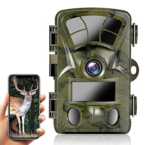 Trail Camera WiFi 4K 20MP, Ctronics Hunting Camera Wildlife Game Cameras with Night Vision Motion Activated Waterproof with 3 Infrared Sensors 120° Wide Angle for Wildlife Monitoring Hunting