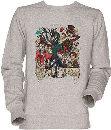 Vendax Panic! at The Disco - Panic at The Disco PATD Unisex Herren Damen Jumper Sweatshirt Grau Men's Women's Jumper Grey