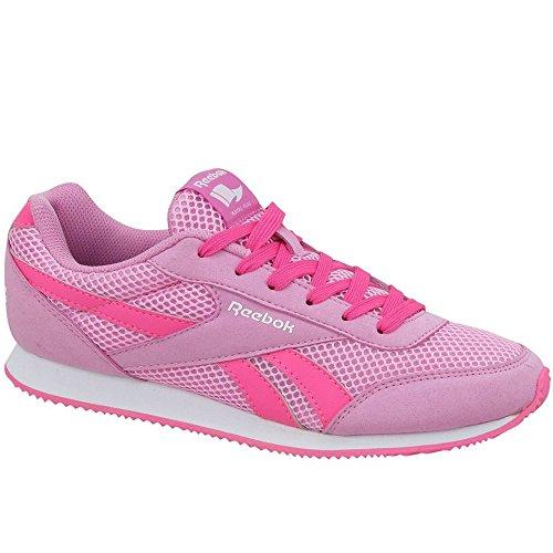 Reebok Mädchen Royal CLJOG 2RS Laufschuhe, Rosa/Weiß (Icono Pink Solar Pink White), 38.5 EU