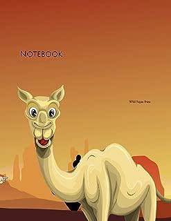 Notebook: Desert safari camel UAE Travel Arab sand story