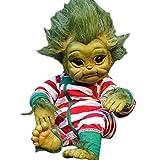 Starall Reborn Baby Doll, Reborn Baby Grinch Toy Realistische Cartoon Puppe Weihnachtssimulation Puppe Weihnachten Geschenk Spielzeug für Kinder