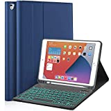 Backlit Keyboard Case for iPad 9.7, Detachable Bluetooth Keyboard Case Cover for iPad 6th Gen 2018 - iPad 5th Gen 2017 - iPad Air 2/1, for iPad Pro 9.7 Built-in Pencil Holder, Dark Blue